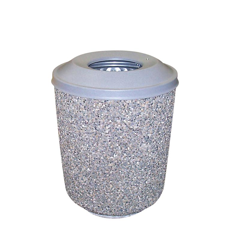 Exposed Aggregate Cement Trash Can Container: WR-5-25M