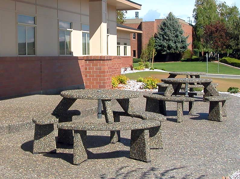 Aggregate Stone Picnic Tables