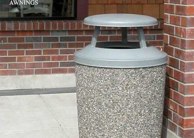 Aggregate Stone Trash Cans