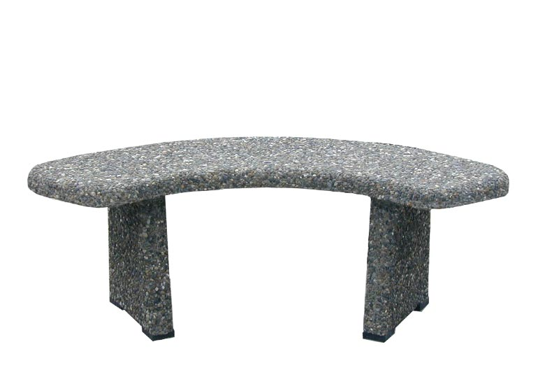 Curved Concrete Park Bench: CB-1-12