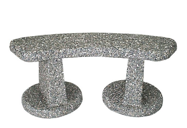 Curved Cement Park Bench: CB-2-18P