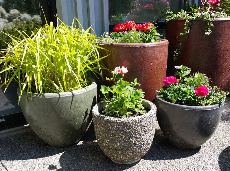 Stone Cement Flower Pots