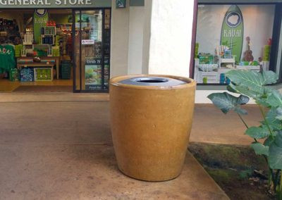 Cement Waste Receptacle - Tuscan Gold Stain