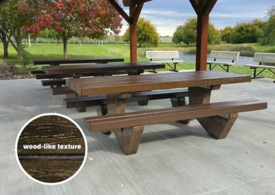 Cement Wood Table - Brown
