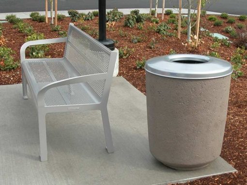 Concrete Waste Receptacles