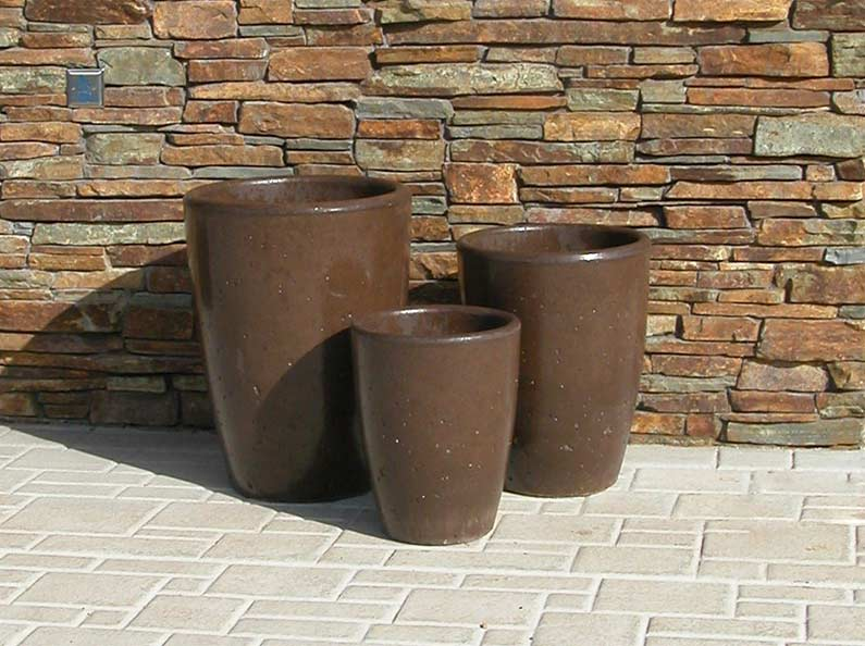 Xinh Planter Pots - Bark Stain