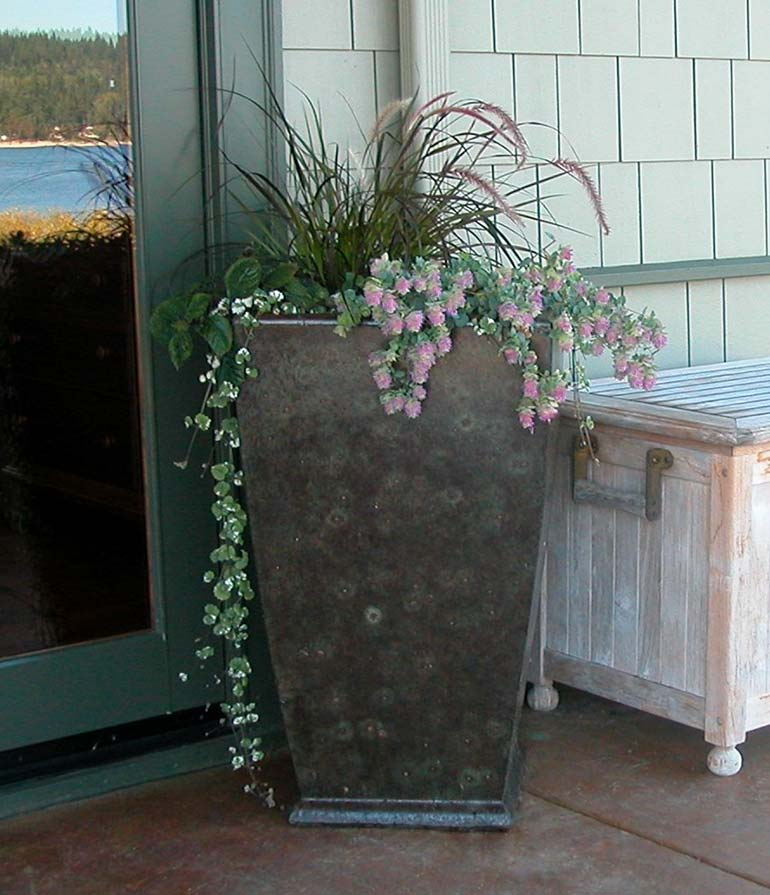Concrete planters and unique cement pots from the Far East series manufactured by Ornamental Stone Inc.