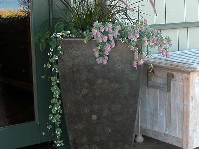 Far East Tall Concrete Planters and Unique Cement Planter Boxes