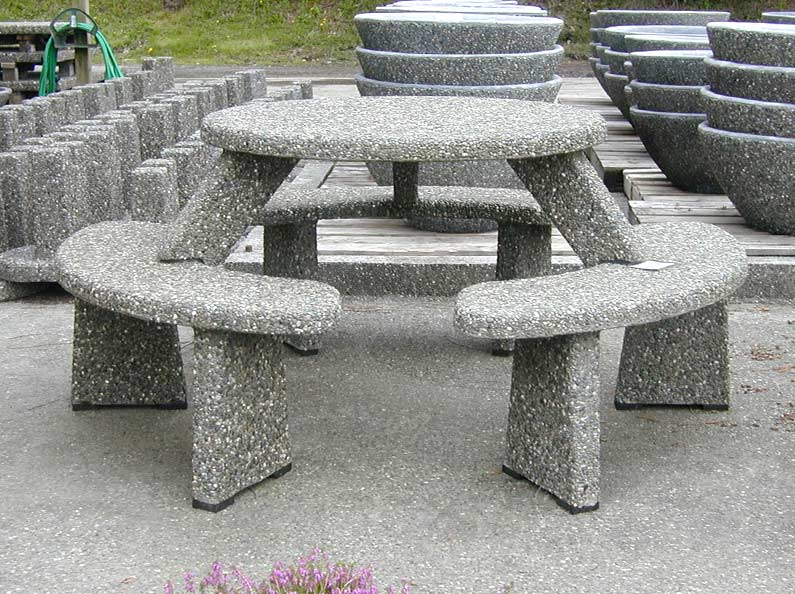 Our concrete tables and benches are built to last!