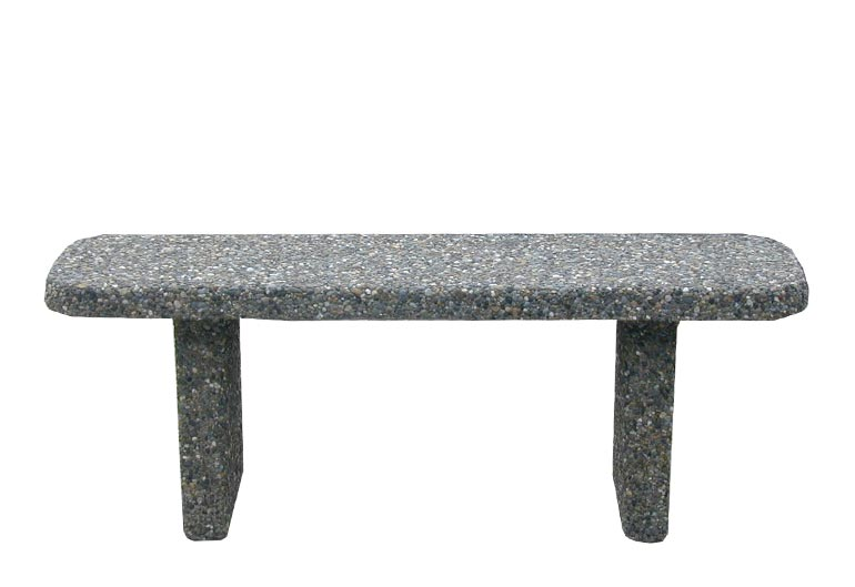 Straight Concrete Bench: SB-1-48