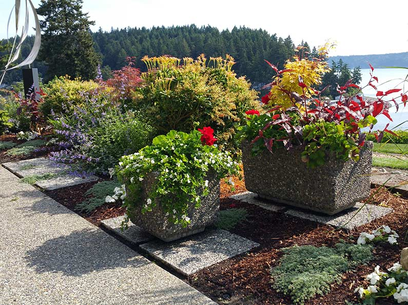 Large Rectangle Aggregate Stone Planters
