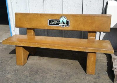 Concrete Benches w/ Business Logo