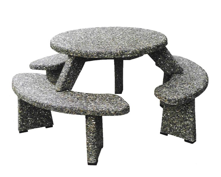 Concrete Table and Benches