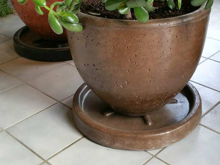 Xinh Concrete Planter Saucers for Cement Pots - Ornamental Stone Inc.